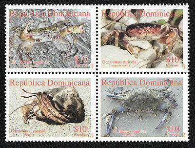 Stamps Dominican Republic Crabs (2009) - MNH