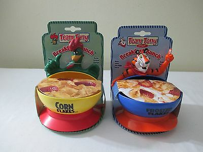 *2* New Kellogg's Breakfast Bunch Cereal Bowls Corn Flakes & Frosted Flakes