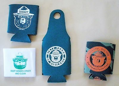4 Smokey Bear Can Holders/Coolers
