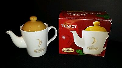 Tim Horton's ~Limited Edition Collectible ~  2 Cup Tea Pot ~ 2006 ~ Always fresh
