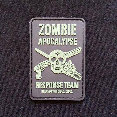 Zombie Apocalypse Response Velcro Patch airsoft military milsim tactical morale
