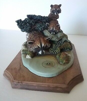 Ltd Edition Bossons Nature Crown Collection Fraser Art England Raccoon Figurine