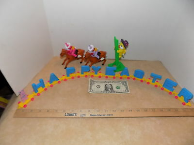 Vintage Easter Unlimited Plastic Decoration Chick Bunny Train Friction China Lot