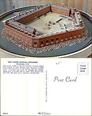 Scale model of Fort Sumter National Monument Museum Charleston SC unused