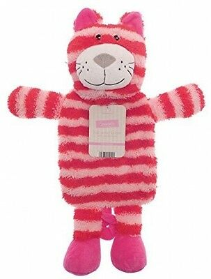 Kids Hot Water Bottle With Adorable Cuddly Animal Cover - Pink Cat