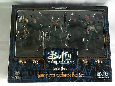 Buffy The Vampire Slayer Mib Four Action Figures Exclusive Box Set Moore Willow