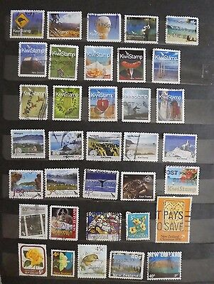 NZ - used stamps include NZ Post forever stamps