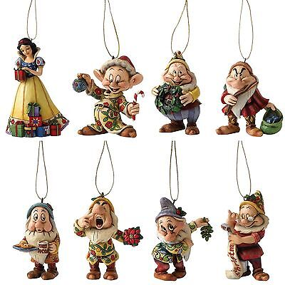 DISNEY TRADITIONS Snow White and the Seven Dwarfs Jim Shore Christmas Ornaments