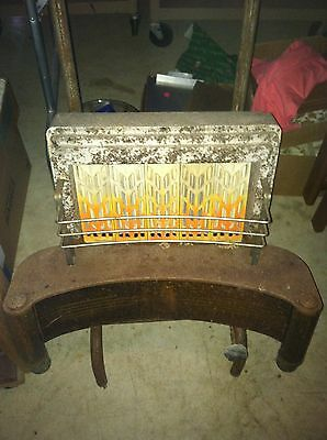 Antique Gas Humphrey Heater Radiant Fire #405 Fireplace Insert