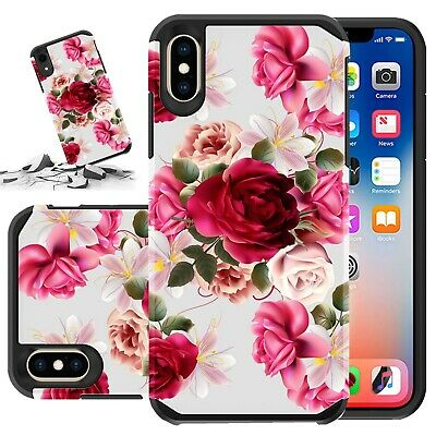 Fits Apple Iphone 8 Plus / Iphone 7 Plus Case Hard & Soft Rubber Kickstand Cover