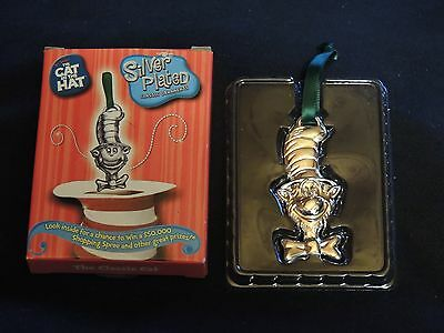 Burger King ornament-The Cat in the Hat Silver Plated - The Classic Cat - NIB