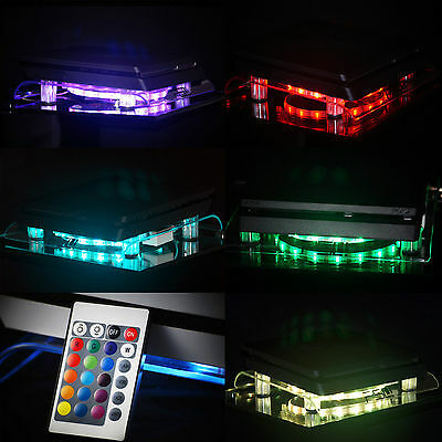 Multicolore Playstation 4 PS4 PRO MINCE RGB LED Design Ventilateur Stands Stand