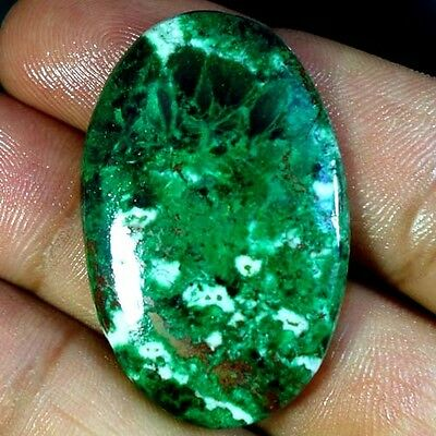 44.10Cts. 100% NATURAL GREEN MALACHITE CHRYSOCOLLA OVAL CABOCHON RARE GEMSTONES