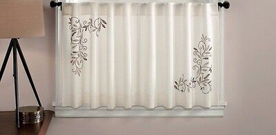 """Chf Industries Scroll Leaf Tailored Tiered Kitchen Curtain - One Pair-58"""" x 36"""""""
