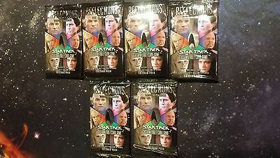 Star Trek Reflections Set 6x Sealed Booster Packs New Decipher Card Game 1E 1st
