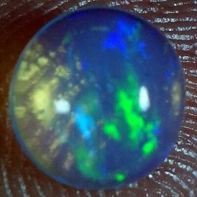 00.75Cts. 100% NATURAL RAINBOW FIRE ETHIOPAIN WELO OPAL ROUND CABOCHON GEMSTONES