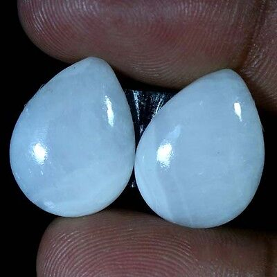 20.40Cts 100% Natural Pink Opal Pear Cabochon Rarest Matched Pair Loose Gemstone