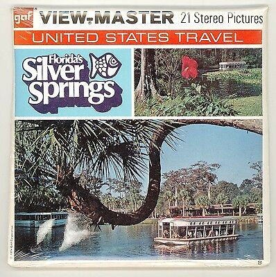 FLORIDA'S SILVER SPRINGS  Viewmaster Packet MNO