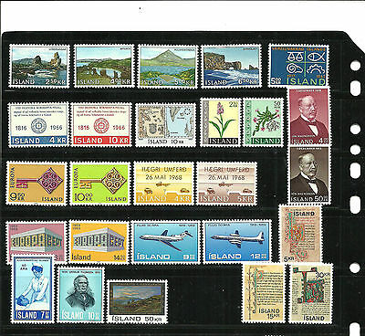 stamps Iceland, Island MNH, lot of complete sets II