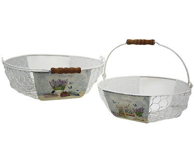 French Country Vintage Inspired Kitchen LAVENDER BASKET Choice of size New