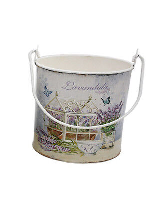French Country Vintage Inspired Kitchen Floral LAVENDER Pail Bucket New