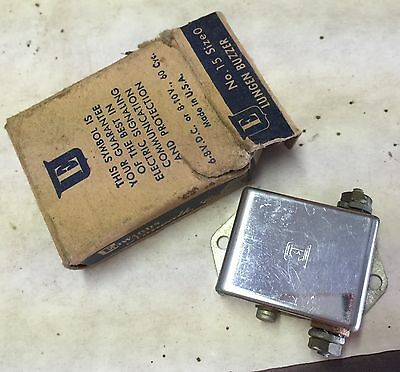 Vintage Edwards Signaling Lungen Buzzer No. 15 Size 0 Made in USA Original Box