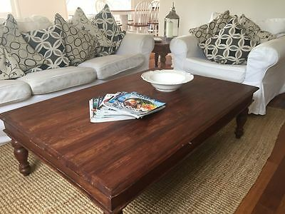 Timber coffee table and side table