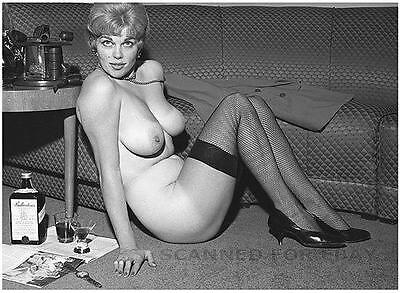 Shirley Quimby sexy print nude model woman female busty leggy legs photo nylons