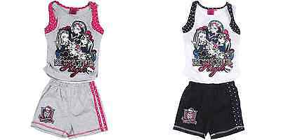 NEW GIRLS LICENSED MONSTER HIGH SUMMER SET, SHORTS WITH VEST, SIZE 4 yrs, BNWT