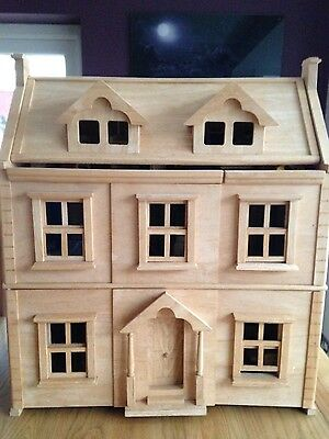 Plan Toys Victorian Dolls House with Furniture