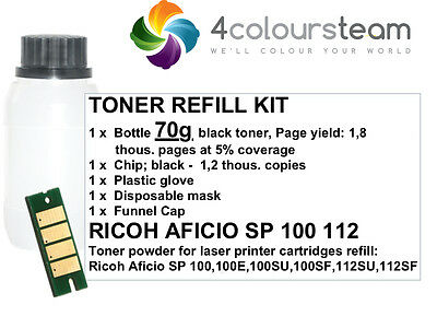 Toner Refill Reset Chip For Ricoh Aficio Sp100  Sp 100 112 100E 100Su  407166