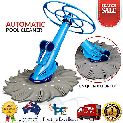 Automatic Swimming Pool Cleaner Above / In Ground Auto Vacuum Floor 10M Hose NEW