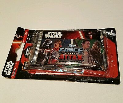 STAR WARS FORCE ATTAX CARDS X 6 PACKS + limited edition card In pack.