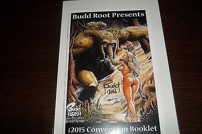 Budd Root presents 2015 convention booklet  cavewoman signed