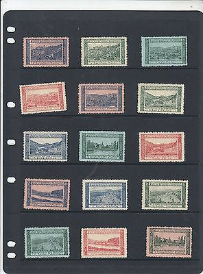 German Revenues 15 different stamps