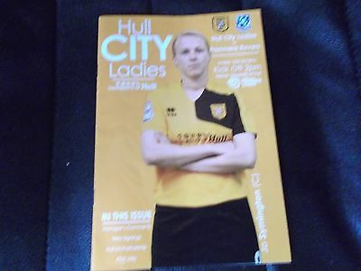 HULL CITY V TRANMERE ROVERS LADIES football programme 2016/17