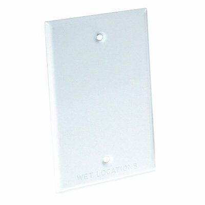 Hubbell Bell 5173-1 Blank Weatherproof Single Gang Device Mount Cover, White