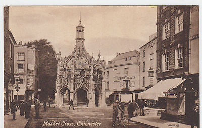 Vintage Postcard Of Market Cross Chichester Sussex Unposted.