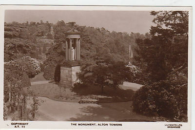 Vintage Postcard Of The Monument Alton Towers Staffordshire Unposted.