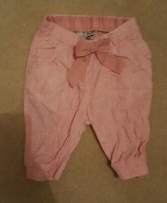 Next Cropped Trousers Pink Baby Girl Age 12-18 Months Excellent Condition