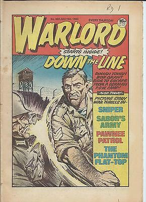 Warlord Comic number 459  July 9th   1983
