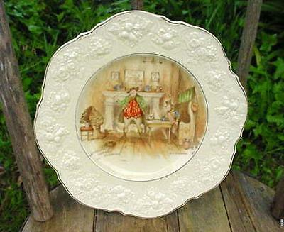 Antique Crown Ducal Cabinet Plate-Sam Weller Composes His Valentine,a.l.stanmore