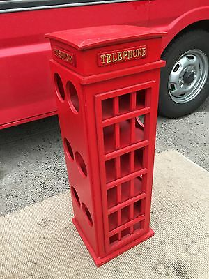 Red Telephone Box Bottle Wine Rack Local Delivery Available