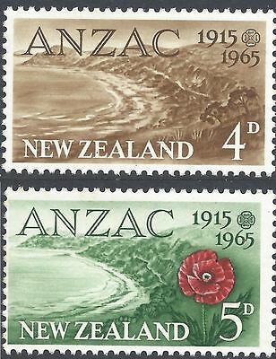 New Zealand 1965 ANZAC (2) Unhinged Mint SG 826-7