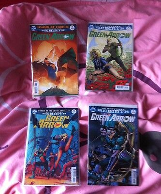 Green Arrow #8-11 bagged and boarded (DC Universe Rebirth Series, Mint)