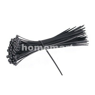 Hq 3Mm-9Mm Black Nylon Cable Ties / Zip Ties For Fastening Cables & Wires 1020Mm