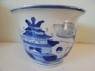 Chinese Blue and White Plant Pot