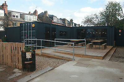 Shipping Containers Converted to High Quality Restaurant