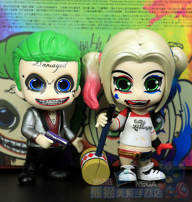New 2016 Hottoys Suicide Squad The Joker & Harley Quinn Cosbaby Figure 2pcs set