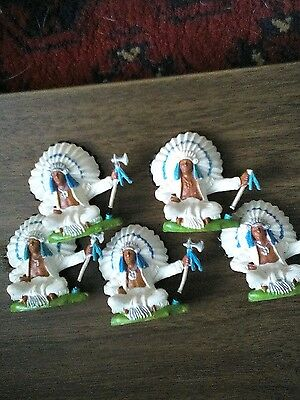 Set of 5 Britains American Indian Chiefs